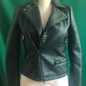 Hunter green leather